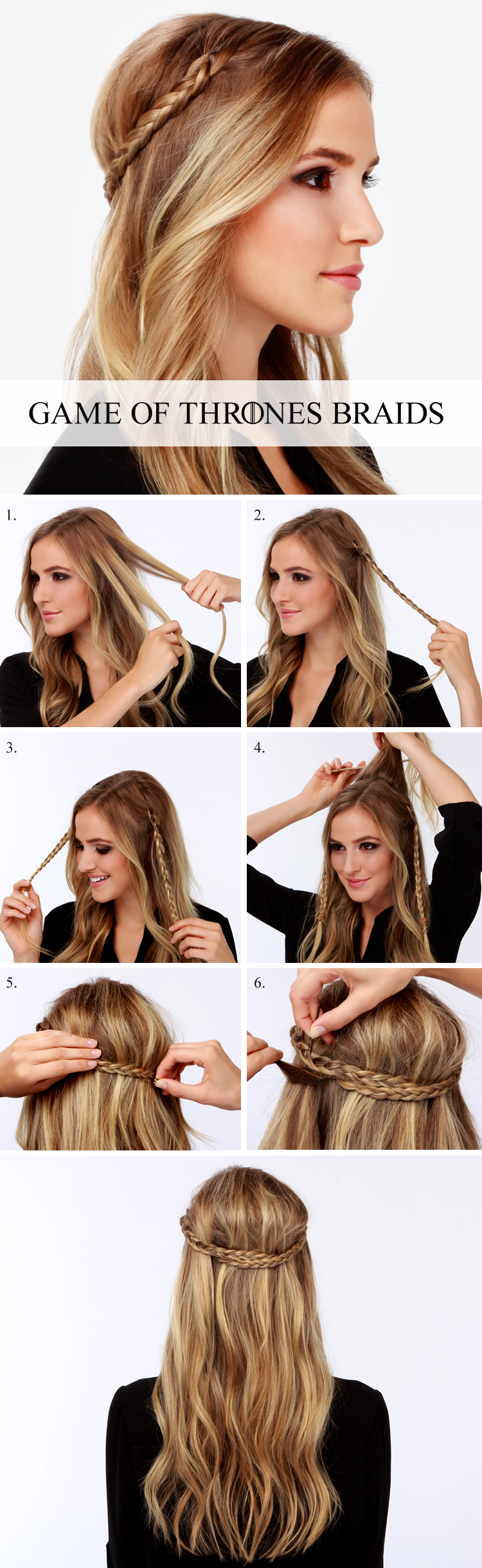 Game of thrones hair braids tutorial