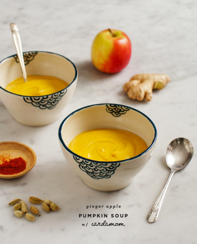Ginger apple pumpkin soup
