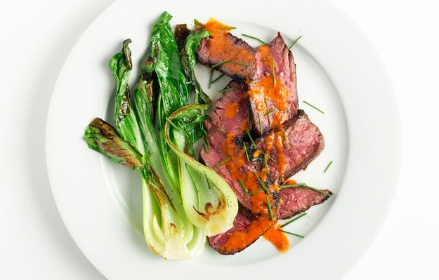 Ginger marinated hanger steak