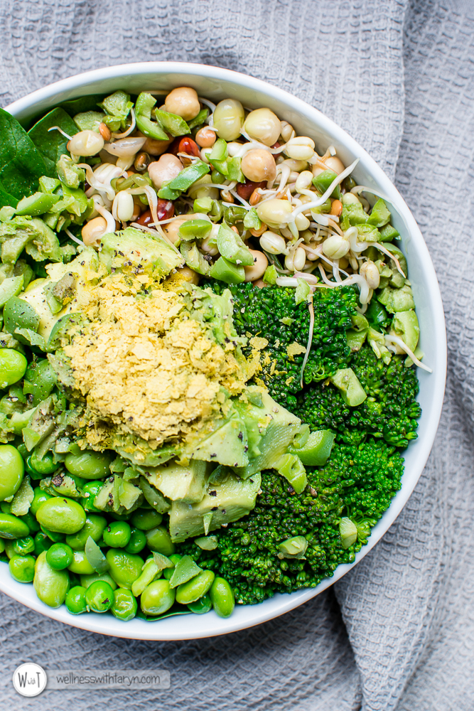 Green goddess vegan bowl