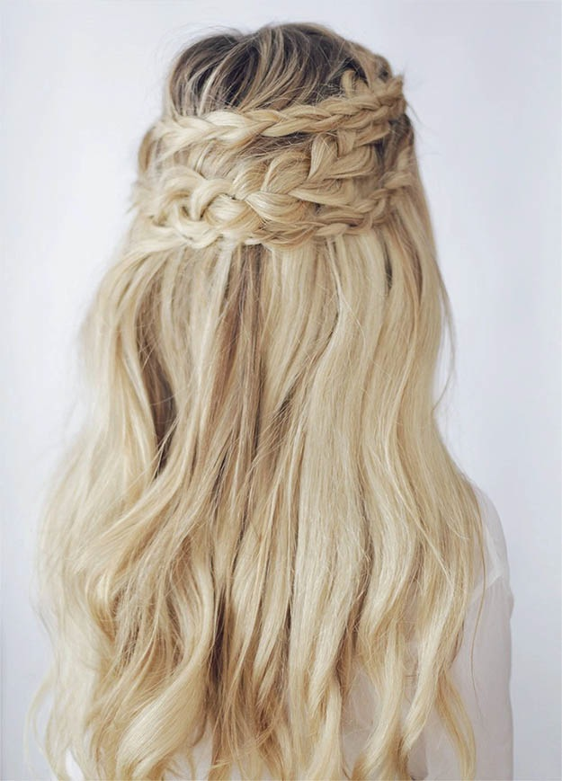 Half up boho braid