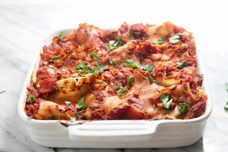 Healthy homemade lasagna