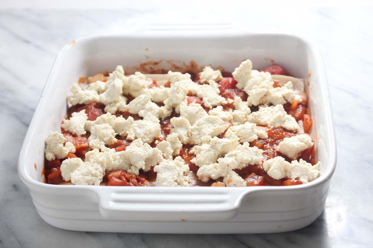 Healthy homemade lasagna ricotta cheese