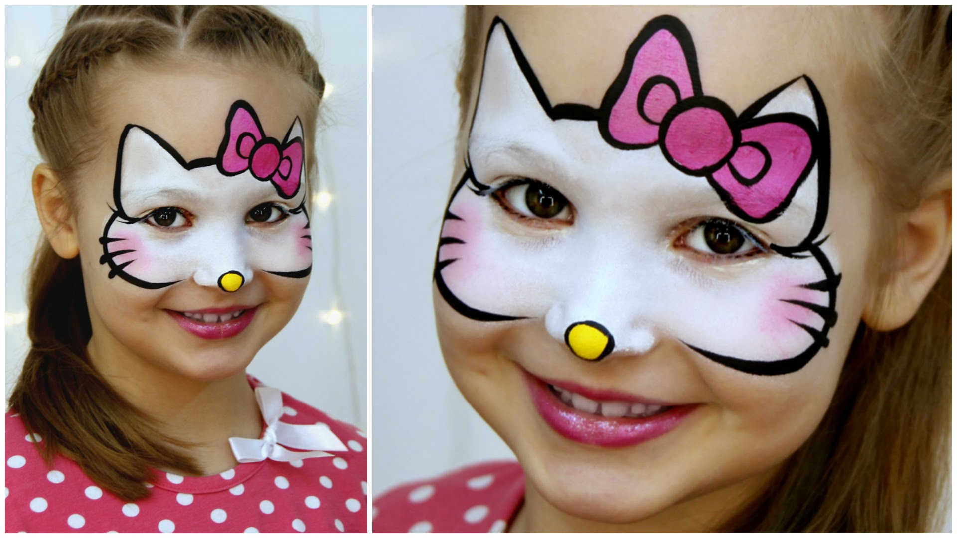 21 fabulous and fun face paint ideas you can recreate at home hello kitty face paint tutorial baditri Gallery