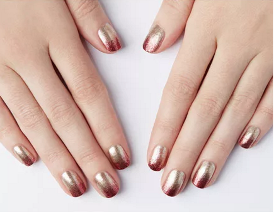 Metallic ombre