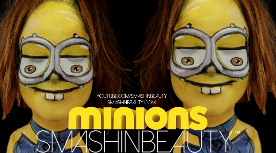 Minions 2 hallloween face paint tutorial 2015