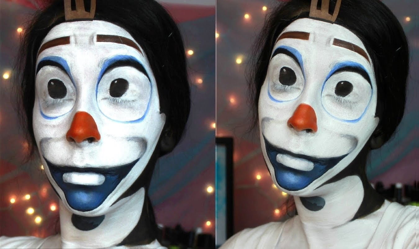 Olaf face paint tutorial