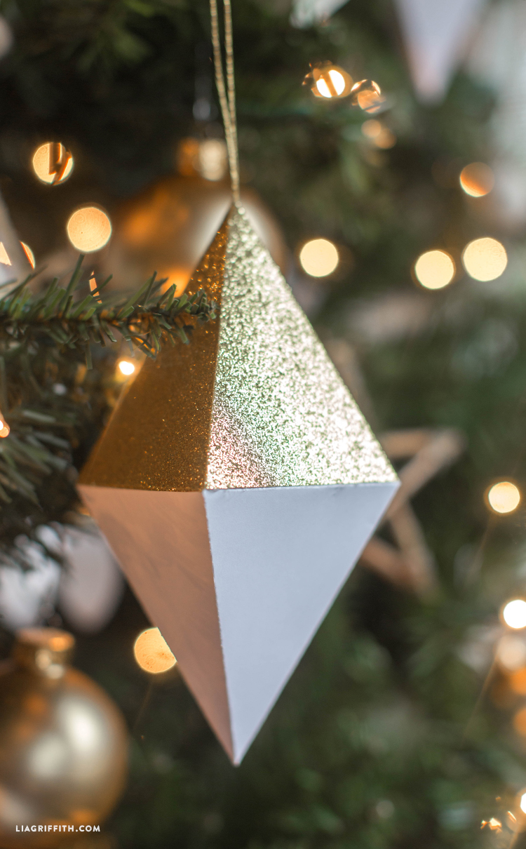 paper geode ornaments diy paper geode