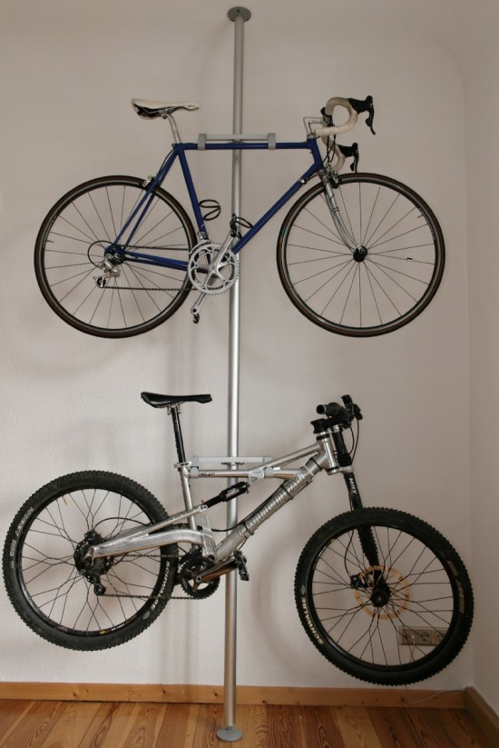 Post bike rack diy & 20 DIY Bikes Racks To Keep Your Ride Steady and Safe