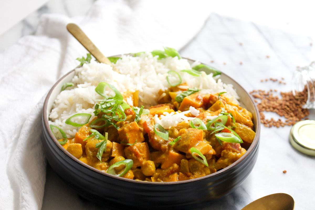 Recipe sweet potato and chickpea curry