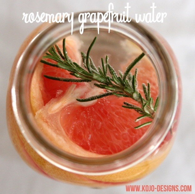Rosemary grapefruit water