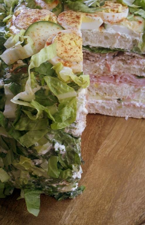 Salami sandwich cake