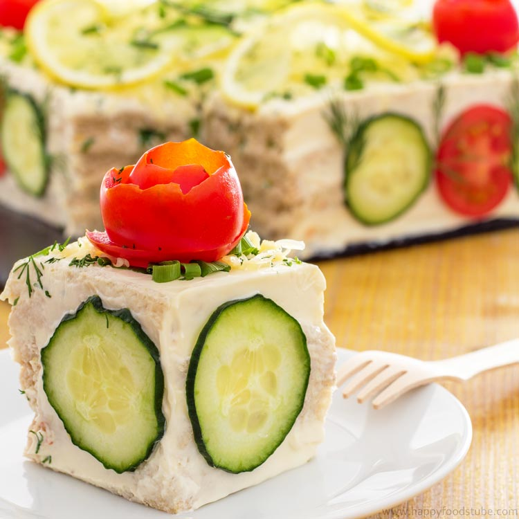 Savory tuna sandwich cake