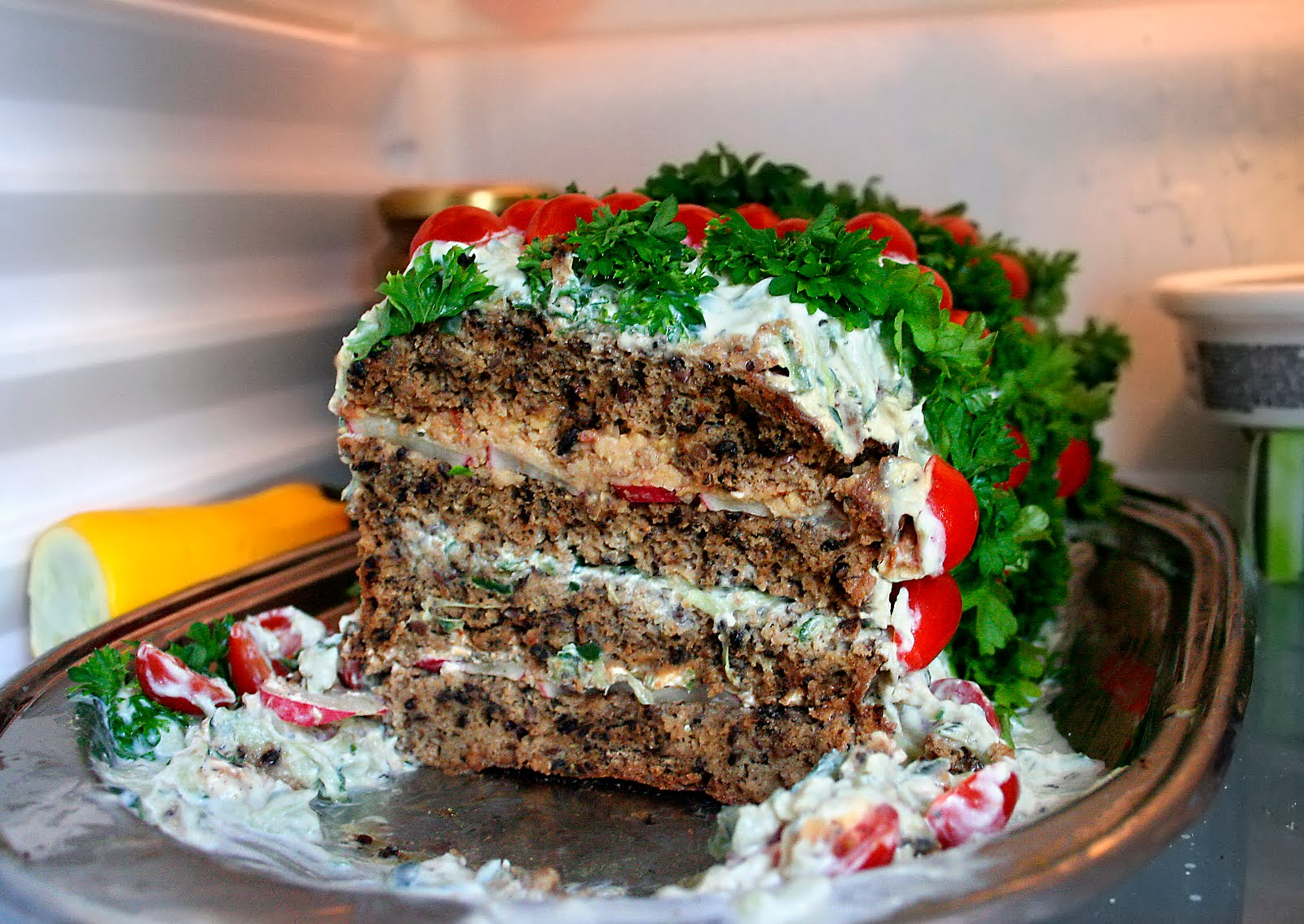 Sewish salty sandwich cake