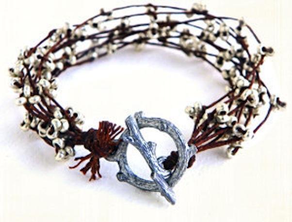 Silver branches bracelet