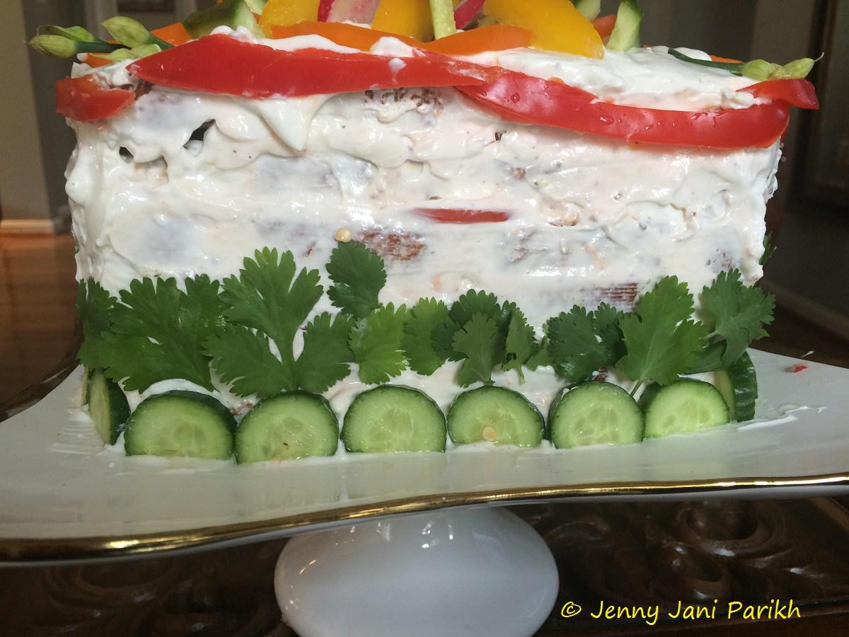 Smorgastorta recipe savory green chutney