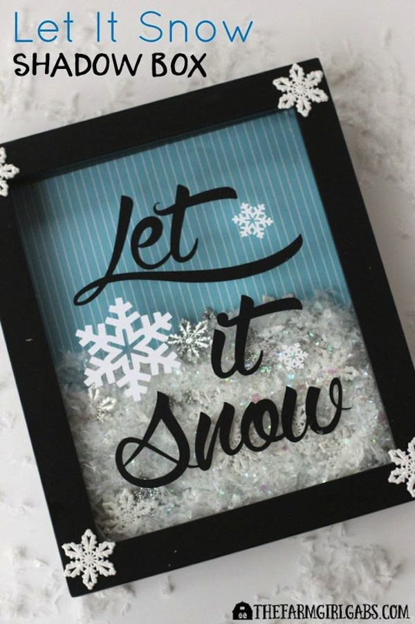 Snowy shadow box