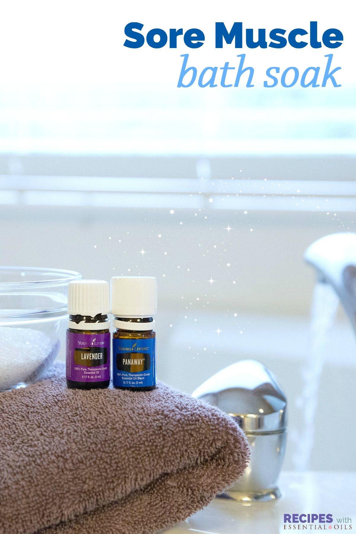 Sore muscle bath soak