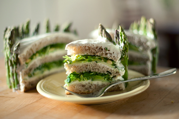 Swedish sandwich cake recipe with asparagus