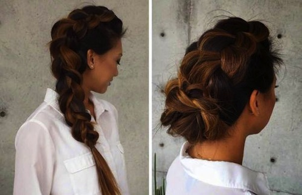 Two way dutch braid