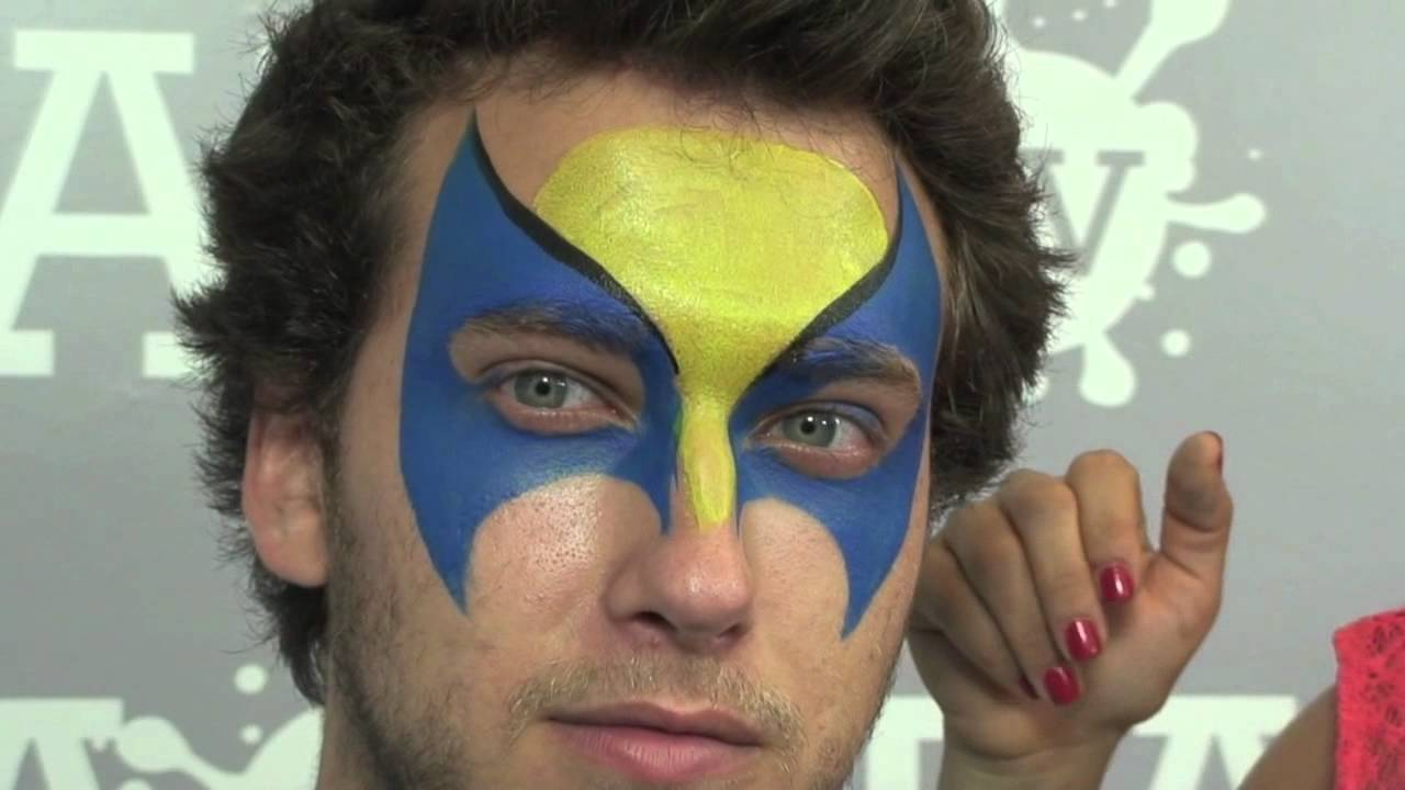 Wolverine face paint tutorial