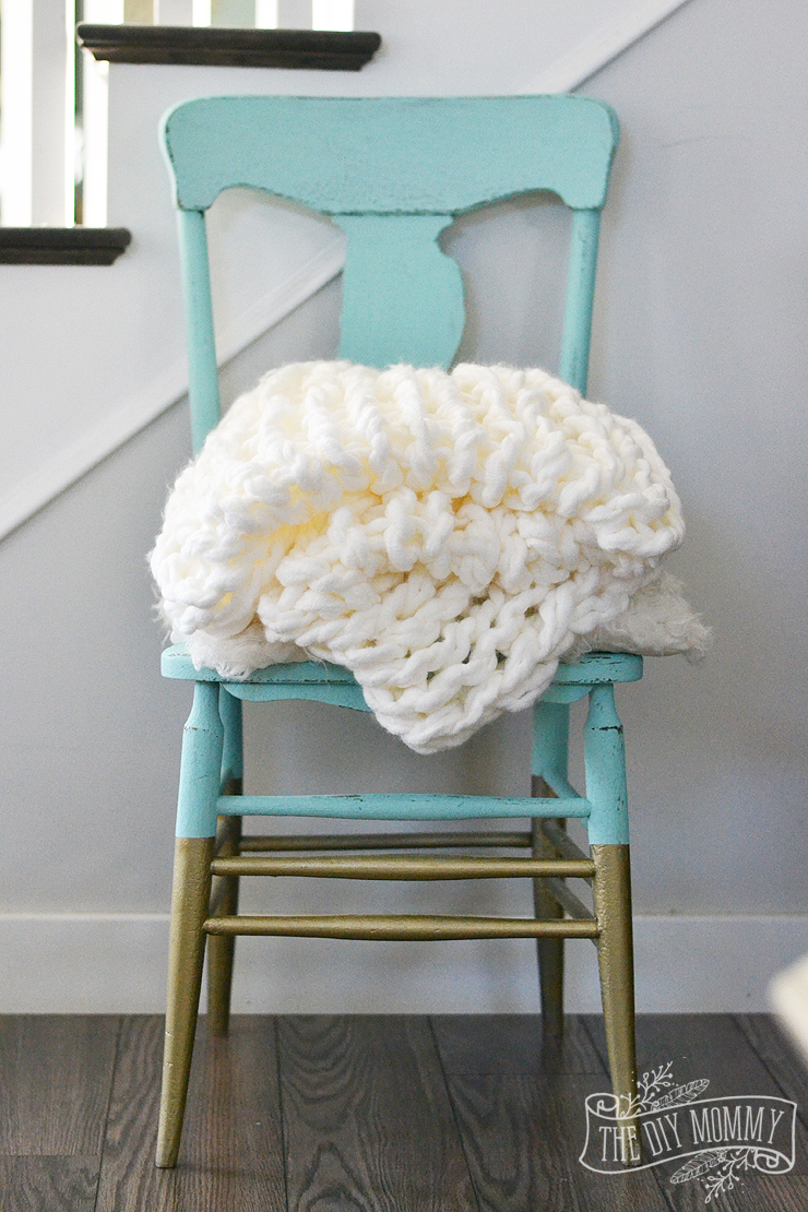 Arm knit blanket diy