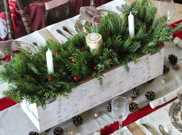 Birch centerpiece diy