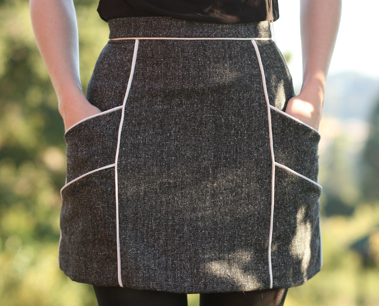 Chalk lines skirt diy