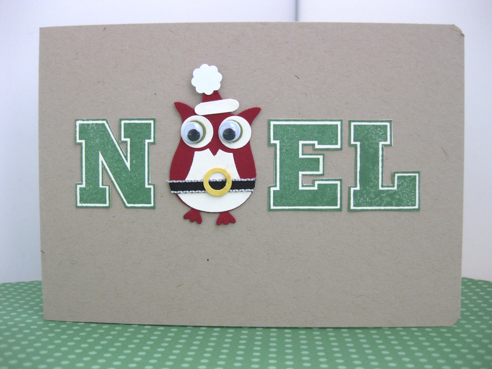 Christmas owl diy card