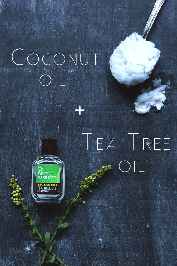 Coconut oil and tea tree oil mask