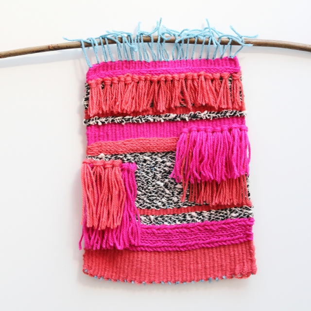 Colorful weaving wall hanging