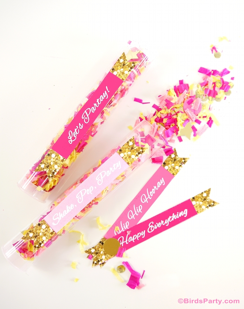 Confetti tube poppers diy clear tube candy