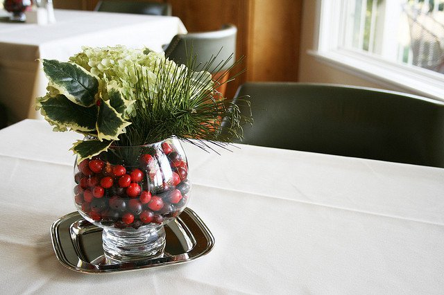Cranberries and greenery photo