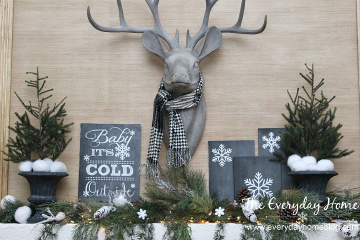 Deer with scarf mantel