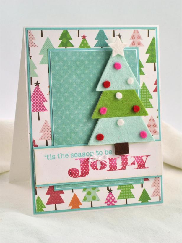 Diy 3d felt christmas cards