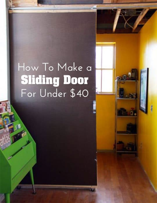 Diy $40 sliding doors