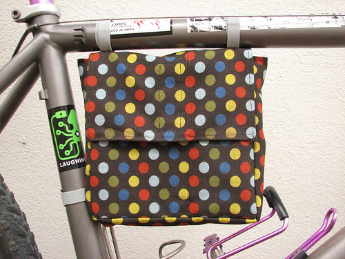Diy bicycle frame lunch bag