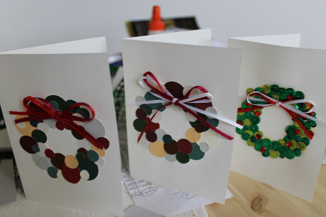 Diy christmas wreath card