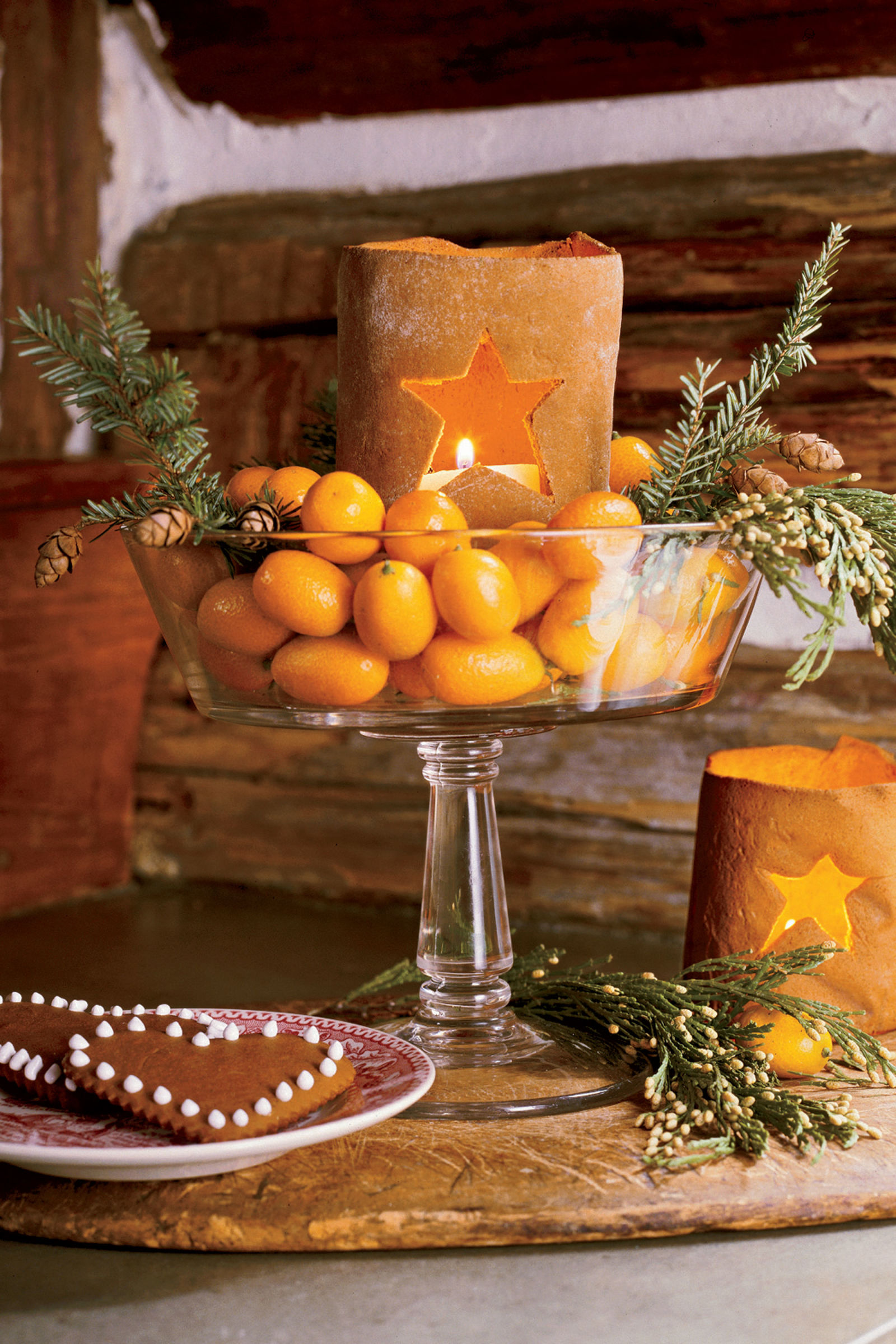 Diy clementine centerpiece for christmas