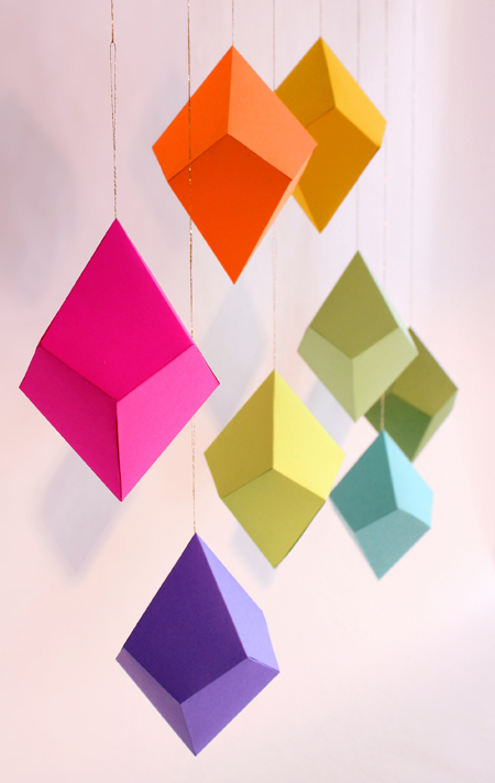 Diy colorful paper ornaments