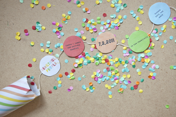 Diy confetti save the date