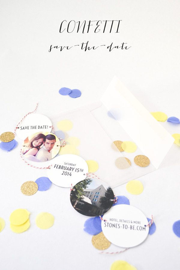 Diy confetti savethedate