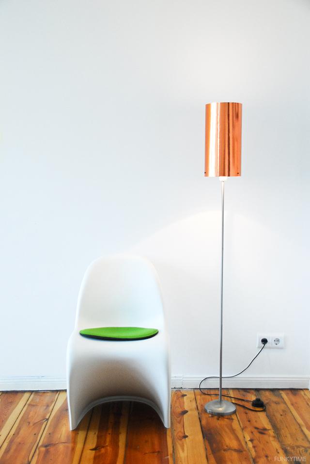 Diy copper top floor lamp