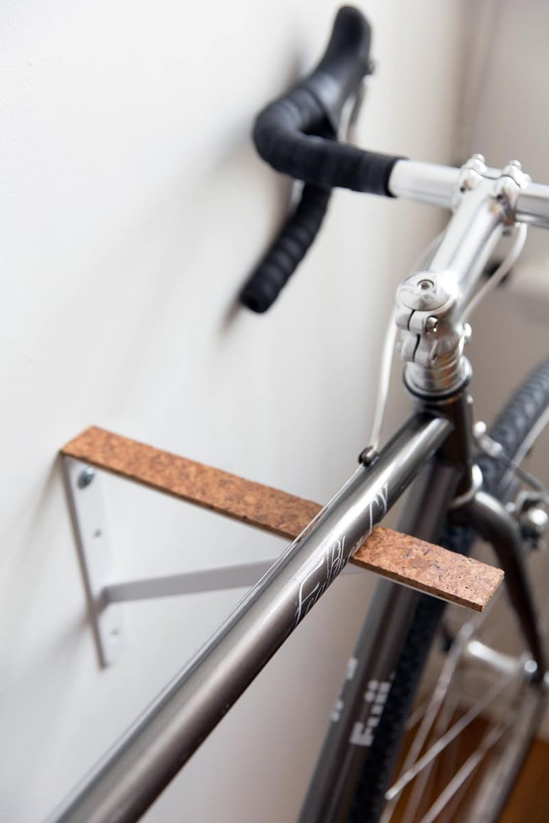 Diy cork bracket bike rack