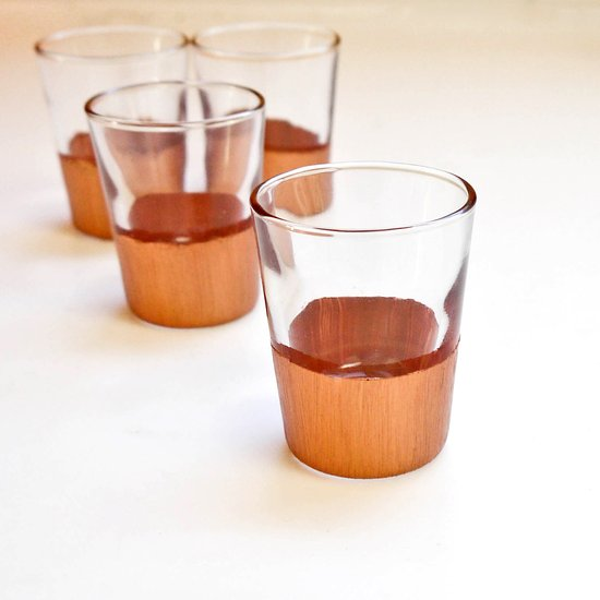 Diy dipped shot glasses
