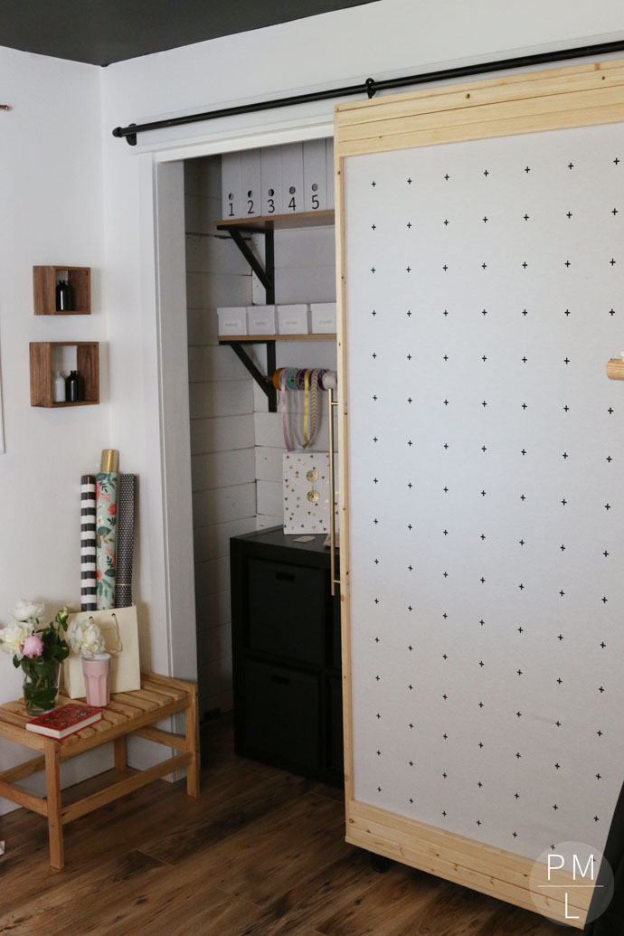 Diy fabric sliding door & 20 DIY Sliding Door Projects To Jumpstart Your Home\u0027s Rennovation