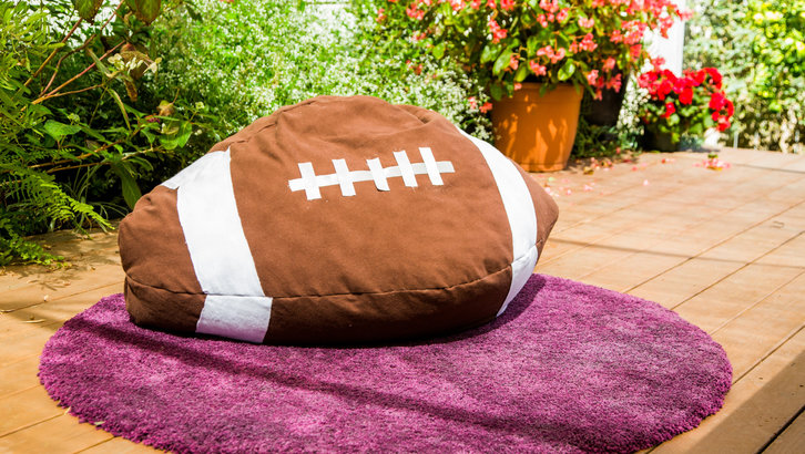 Diy football bean bag chair