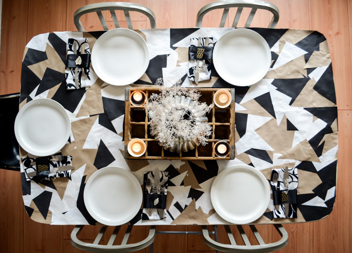 Diy geometric tablecloth