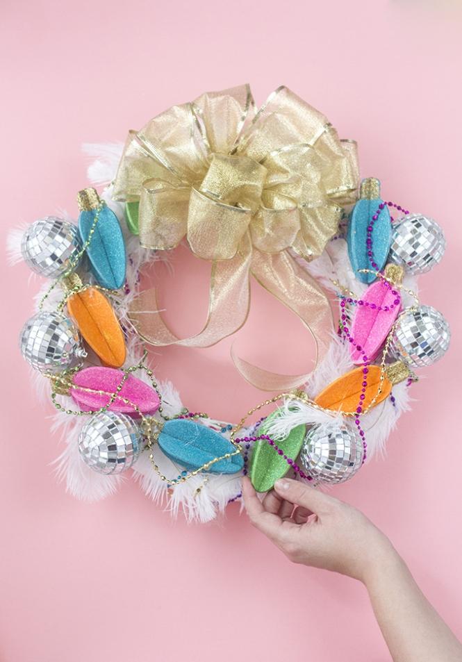 Diy glam christmas wreath