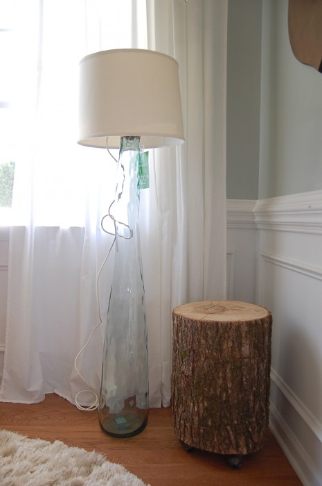 Light up the living room with these 25 diy floor lamps diy glass floor lamp aloadofball Image collections